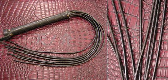 Cord Lash Leather Bondage Whip