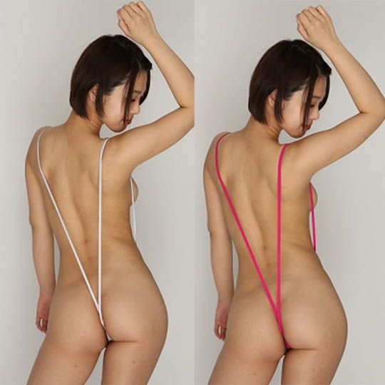 Ladies Slingshot Suit with Built-in Stretchy Crotch Hole