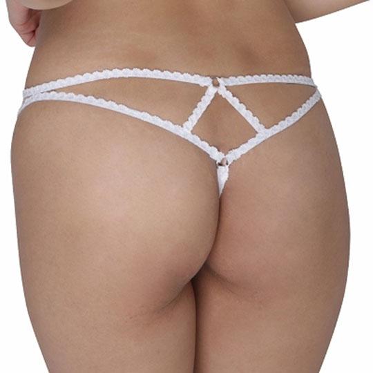 Sheer G-String Panties with Vibrator Pocket