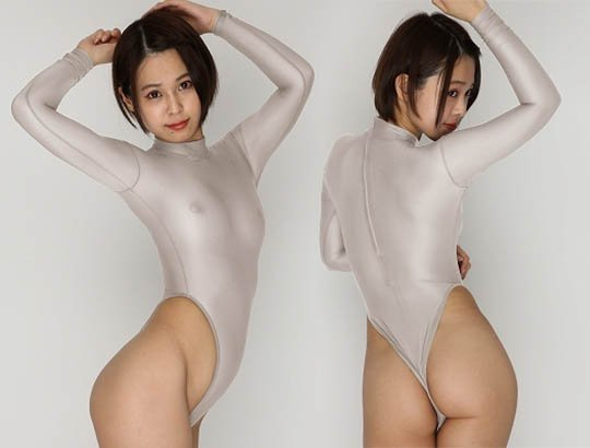 Ultra-Thin Long-Sleeved Leotard with Back Zipper